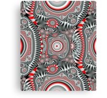 Inner Circles, Geometric Fractal design Canvas Print