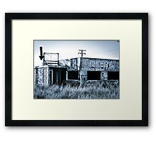 The Joker Coffee Shop Framed Print