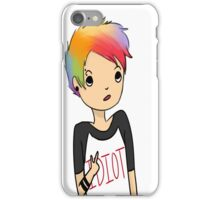 Rainbow Hair Michael  iPhone Case/Skin