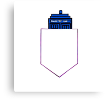 TARDIS in a shirt pocket Canvas Print