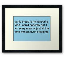 Scott Pilgrim - Garlic Bread Framed Print