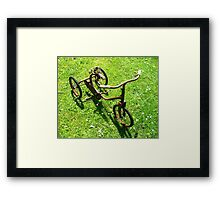 Old Trike Framed Print