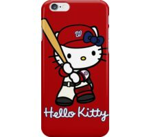 Hello Kitty Washington Nationals Baseball iPhone Case/Skin