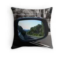 rear view Throw Pillow