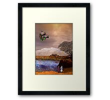 My Other Pakistani Home on Mars Framed Print
