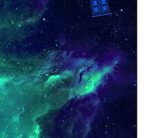 TARDIS flying through space by lotifer