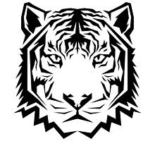 Jagged Tiger (Black & White) by ozdesign