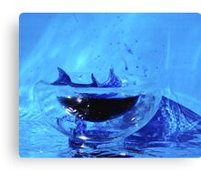 Dolphin in a small world Canvas Print