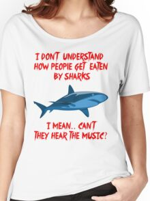 Sharks - Hear The Music Women's Relaxed Fit T-Shirt