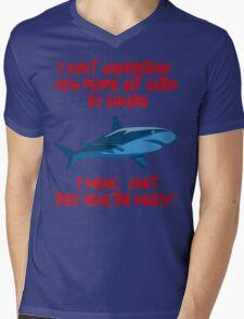 Sharks - Hear The Music Mens V-Neck T-Shirt