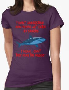 Sharks - Hear The Music Womens Fitted T-Shirt