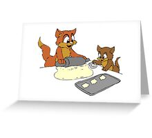 Cats Making Cookies Greeting Card