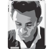 Grayscale Johnny Cash iPad Case/Skin