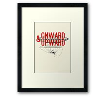 Onward And Upward Framed Print