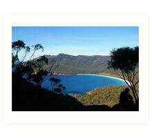 wineglass bay    tasmania Art Print