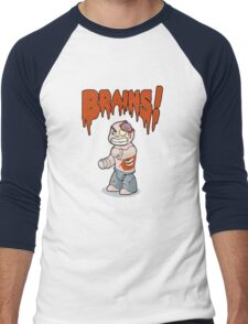 brains! Men's Baseball ¾ T-Shirt