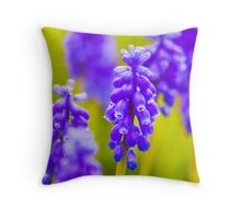 Grape Hyacynth Throw Pillow