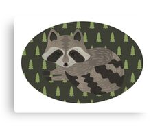 Raccoon Forest Canvas Print