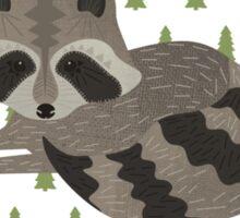 Raccoon Forest Sticker