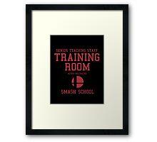 Smash School Training Room (Red) Framed Print