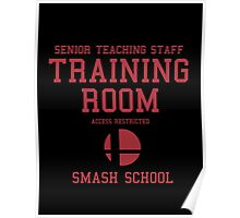 Smash School Training Room (Red) Poster
