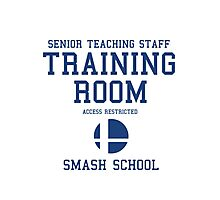Smash School Training Room (Blue) Photographic Print