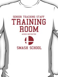 Smash School Training Room (Red) T-Shirt