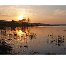 reservoir sunset Photographic Print