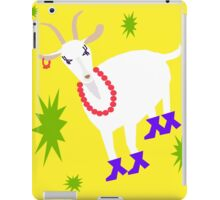 Goat on the Yellow Background. Neon iPad Case/Skin