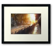 late afternoon tram Framed Print