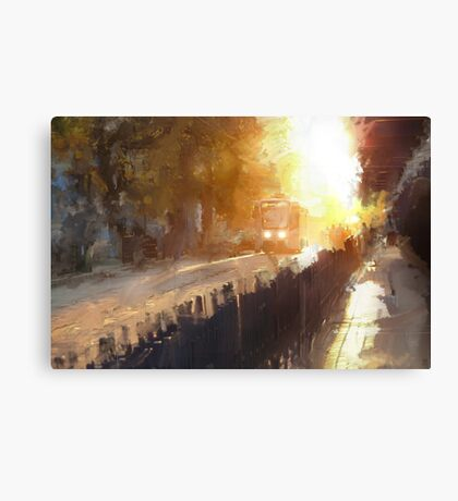 late afternoon tram Canvas Print