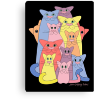 Twelve Cats For Happiness Canvas Print