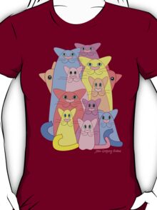 Twelve Cats For Happiness T-Shirt