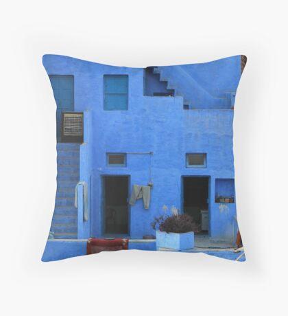 brahmin blue Throw Pillow
