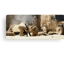 mortar Canvas Print