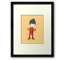 Little Ninja Framed Print