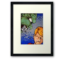His Roar Can Be Heard Miles Away Framed Print