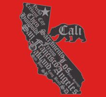 California State Bear (vintage distressed look) Kids Clothes