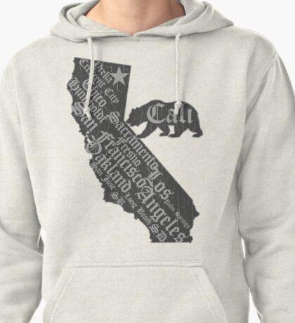 California State Bear (vintage distressed look) Pullover Hoodie