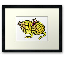 Kittens Playing With Yarn Framed Print