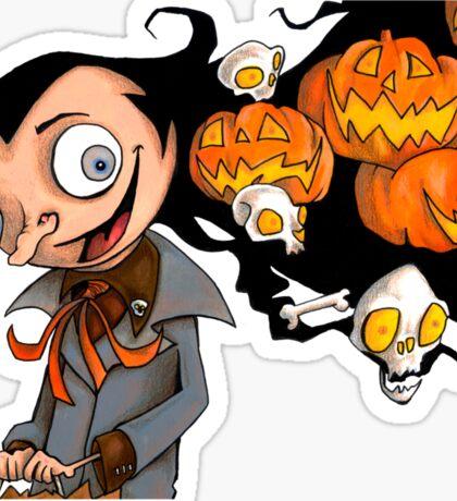 The Kids Call Him Pumpkin Hair Sticker