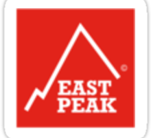 East Peak Apparel - Red Square Small Logo Sticker