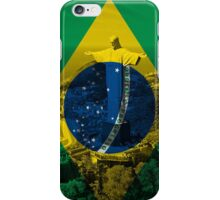 Brazil flag plus scenery iPhone Case/Skin