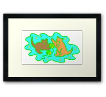 Cats Playing With Yarn Framed Print