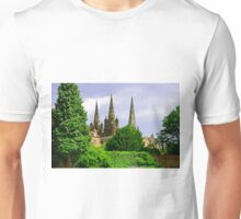 Lichfield Cathedral from the Garden Unisex T-Shirt