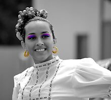 Dancer With The Ballet Folklorico Alegria by Sandra Moore