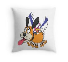 Duck Hunt The Cowardly Duo Throw Pillow