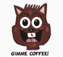Gimme Coffee! Chipmunk  by Rajee