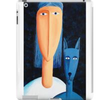 Woman and Cat iPad Case/Skin