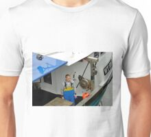 Fisherman Aboard The Olivia Rose, Whitby Unisex T-Shirt